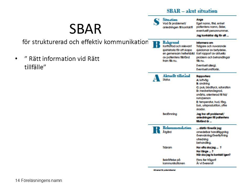 SBAR för strukturerad och effektiv kommunikation