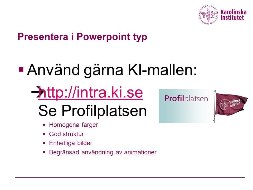 Presentera i Powerpoint typ
