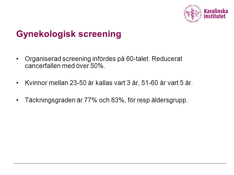 Gynekologisk screening