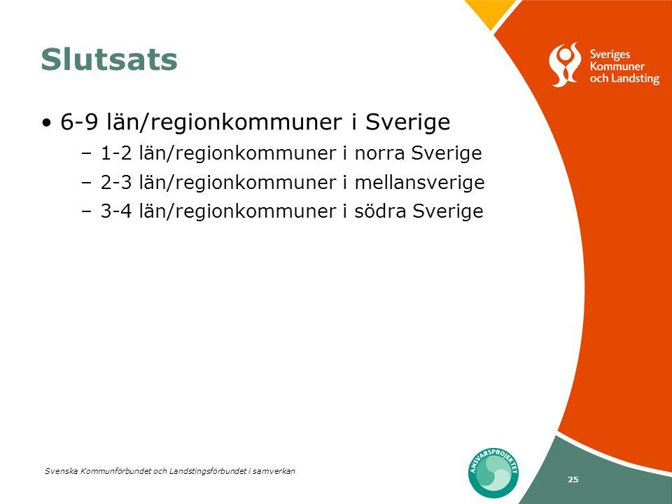 Slutsats 6-9 län/regionkommuner i Sverige