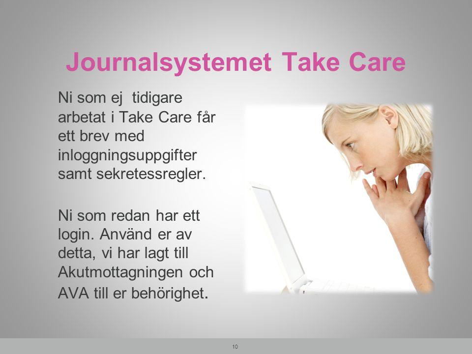 Journalsystemet Take Care