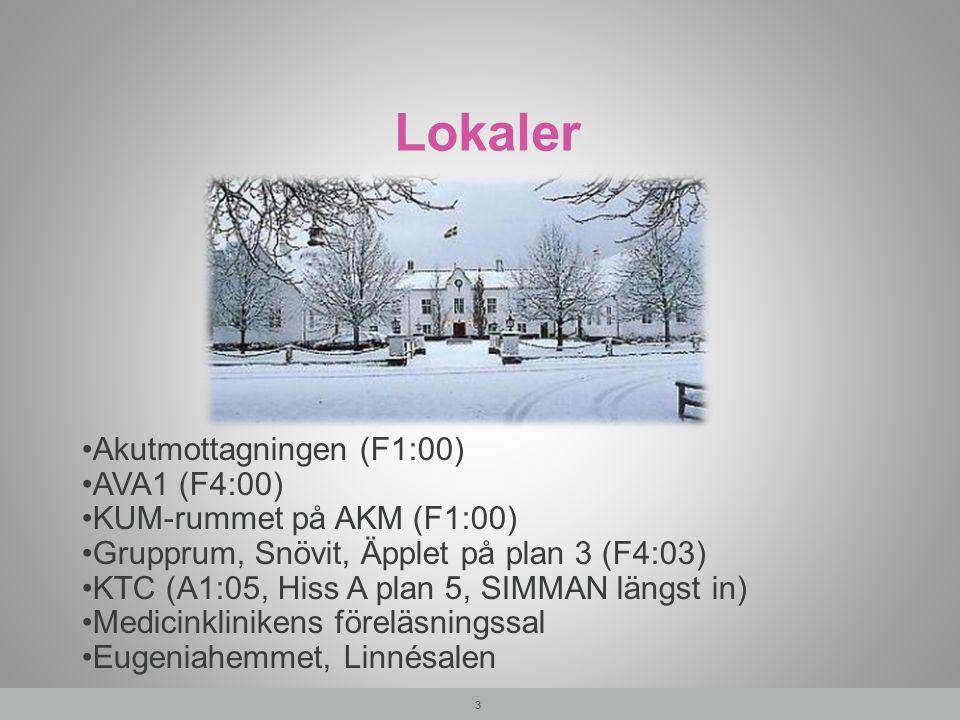 Lokaler Akutmottagningen (F1:00) AVA1 (F4:00)