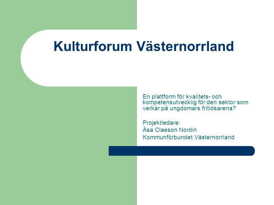 Kulturforum Västernorrland
