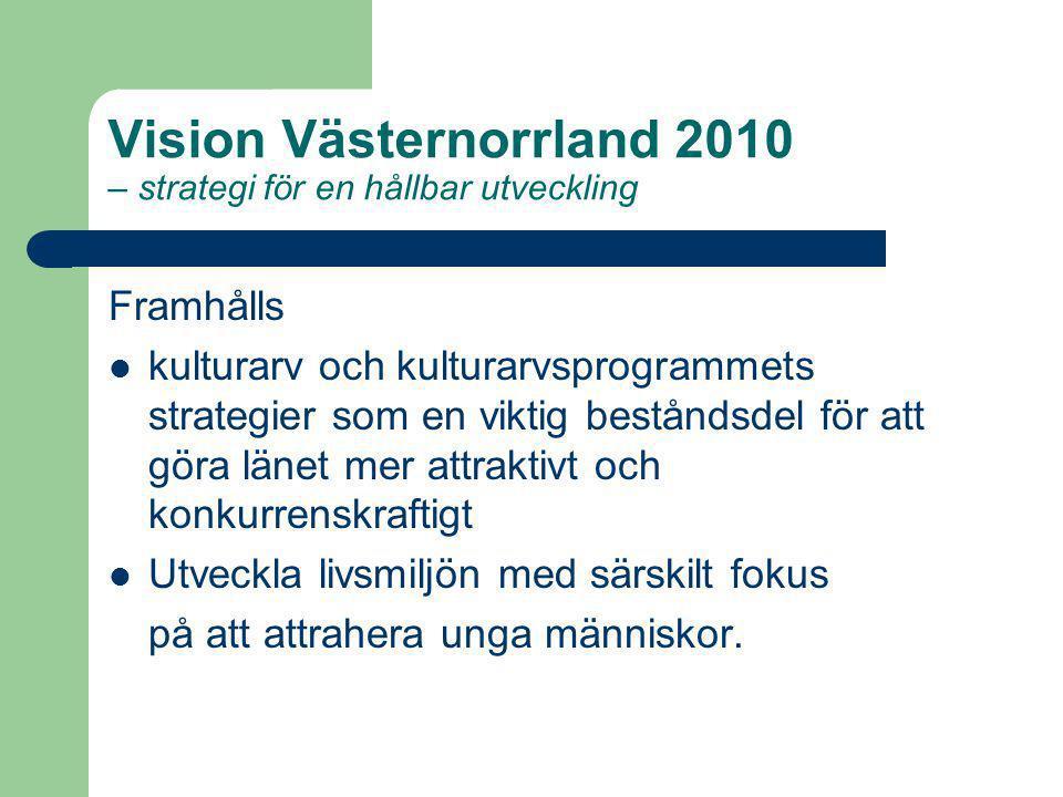 Vision Västernorrland 2010 – strategi för en hållbar utveckling