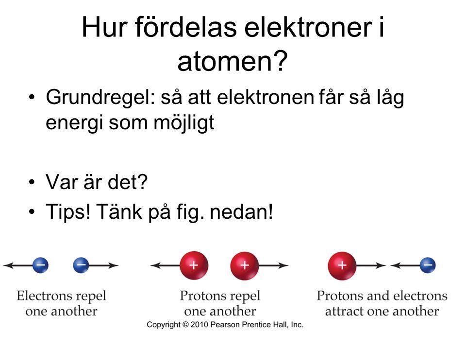 Hur fördelas elektroner i atomen