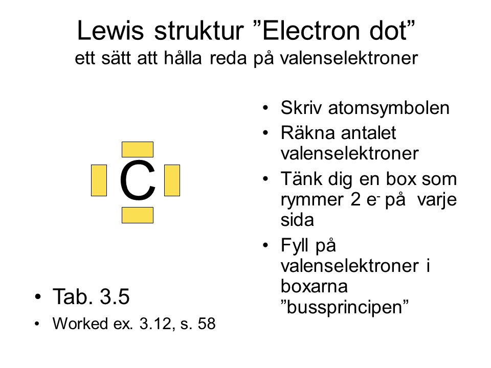 Lewis struktur Electron dot ett sätt att hålla reda på valenselektroner