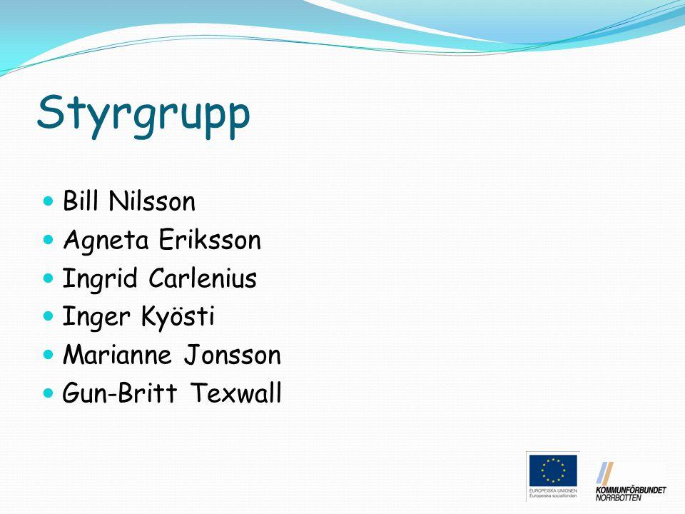 Styrgrupp Bill Nilsson Agneta Eriksson Ingrid Carlenius Inger Kyösti
