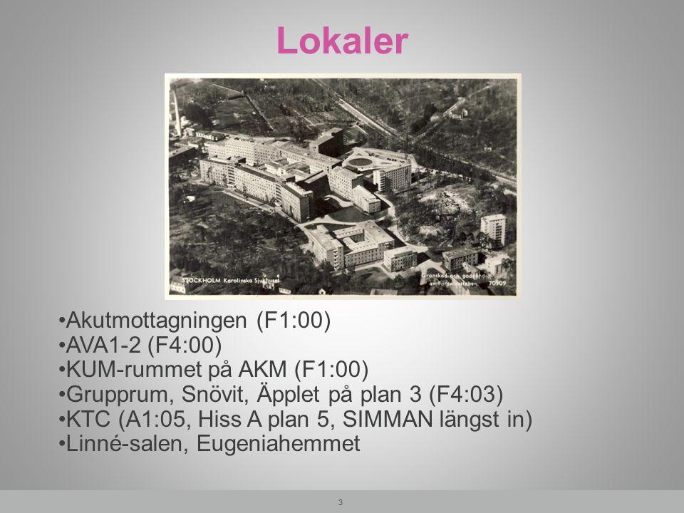 Lokaler Akutmottagningen (F1:00) AVA1-2 (F4:00)