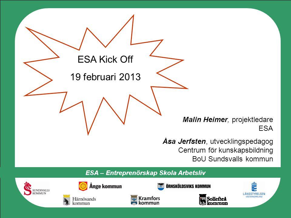 ESA – Entreprenörskap Skola Arbetsliv