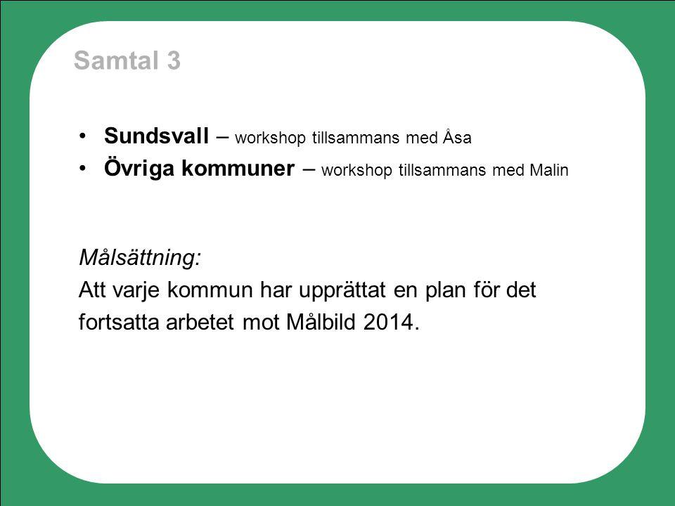 Samtal 3 Sundsvall – workshop tillsammans med Åsa