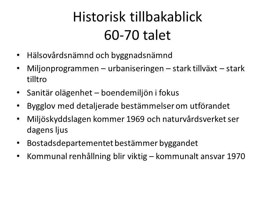 Historisk tillbakablick 60-70 talet