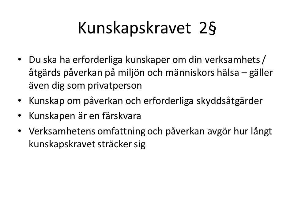 Kunskapskravet 2§