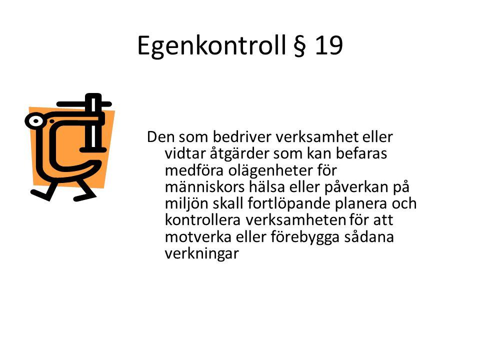 Egenkontroll § 19