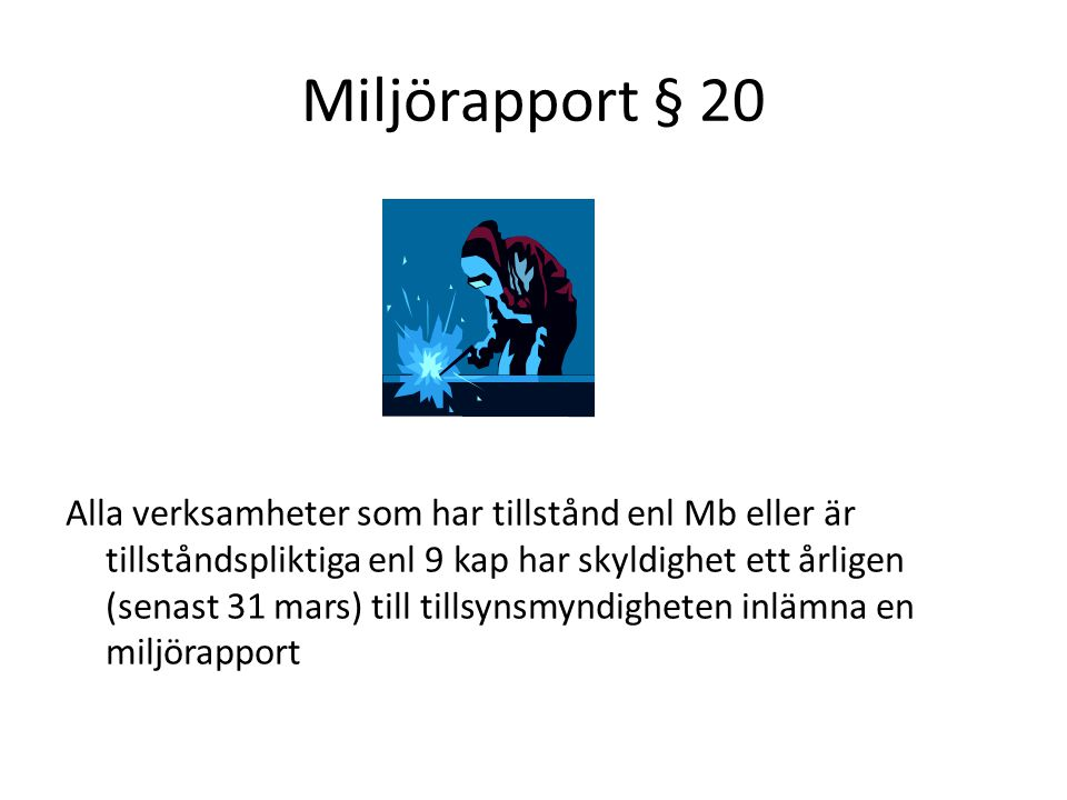 Miljörapport § 20