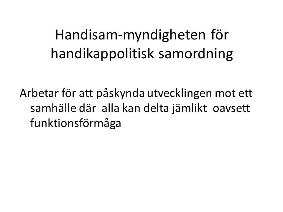 Handisam-myndigheten för handikappolitisk samordning