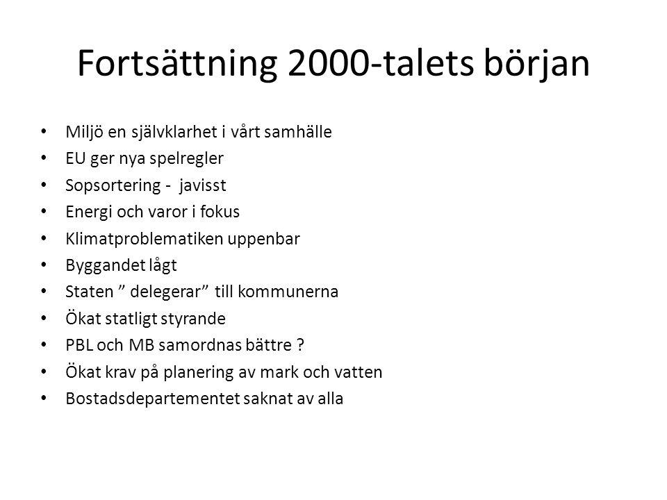 Fortsättning 2000-talets början