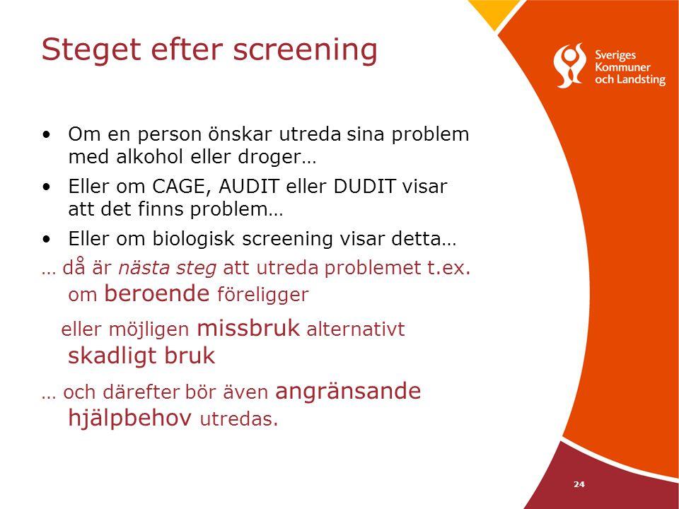 Steget efter screening