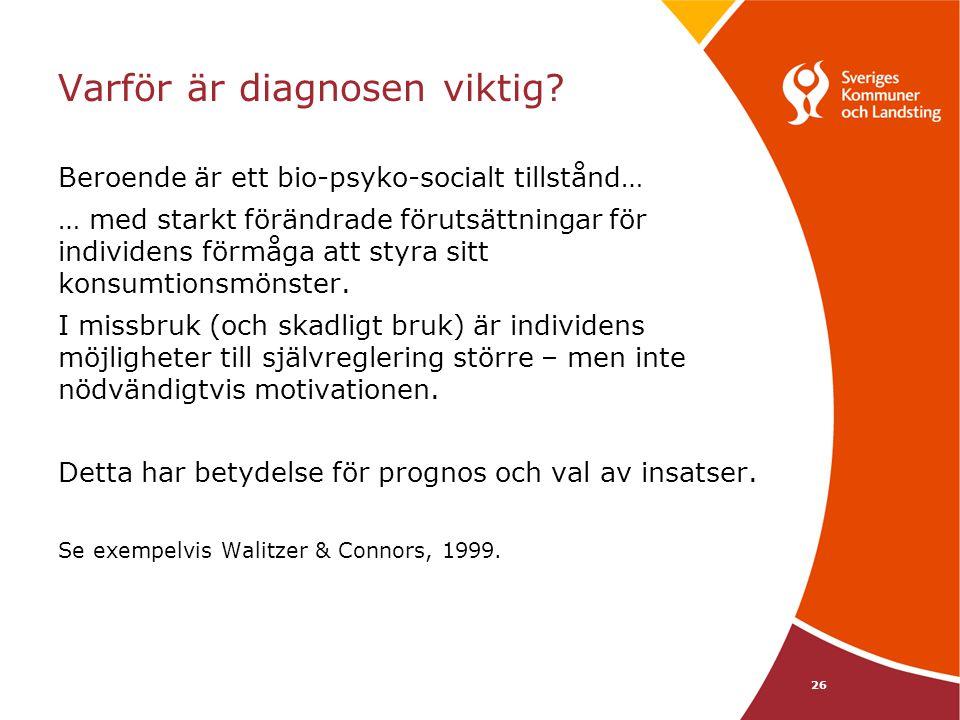 Varför är diagnosen viktig