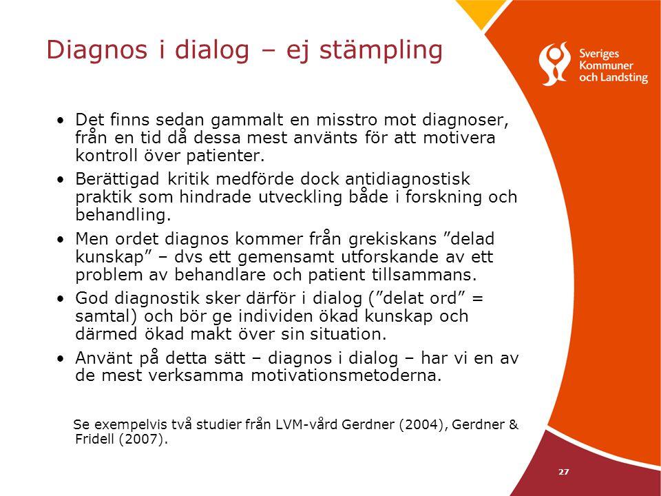Diagnos i dialog – ej stämpling