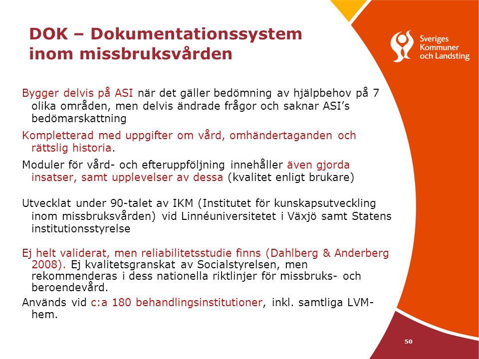 DOK – Dokumentationssystem inom missbruksvården