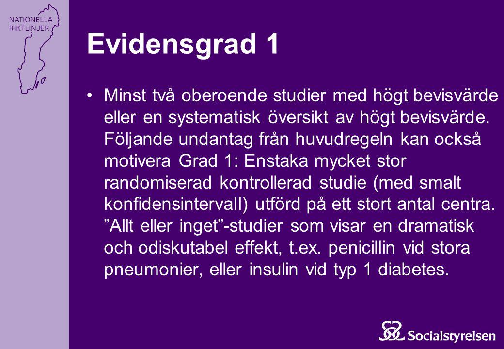Evidensgrad 1