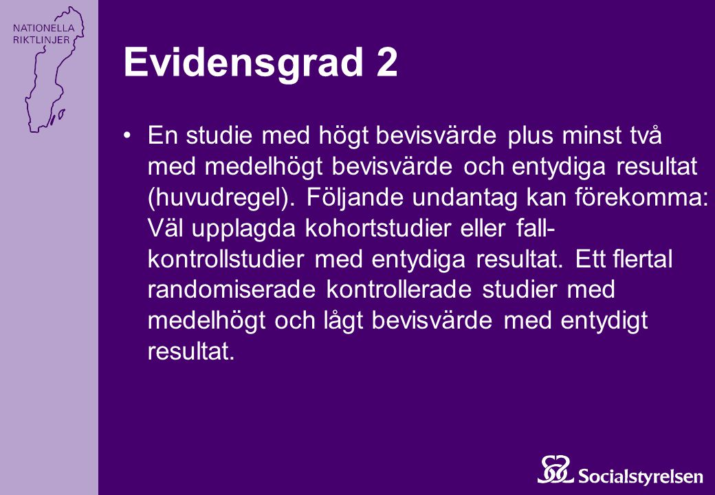 Evidensgrad 2