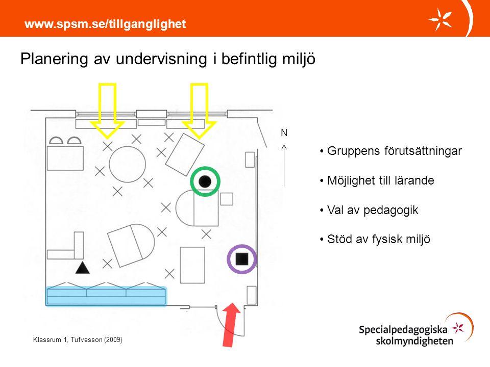 Planering av undervisning i befintlig miljö