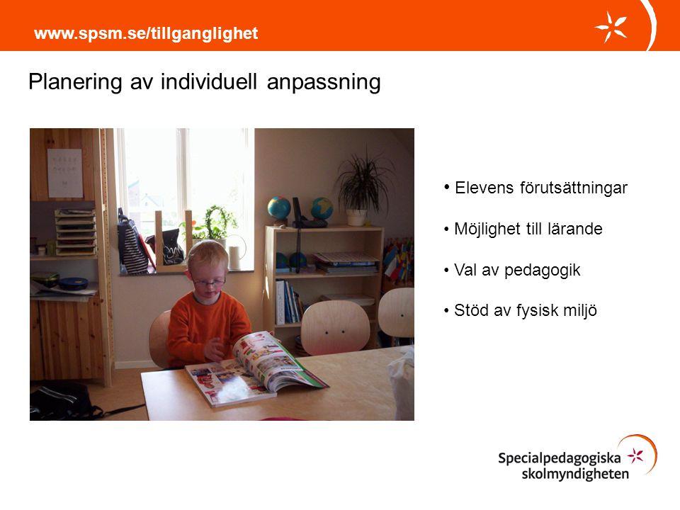 Planering av individuell anpassning