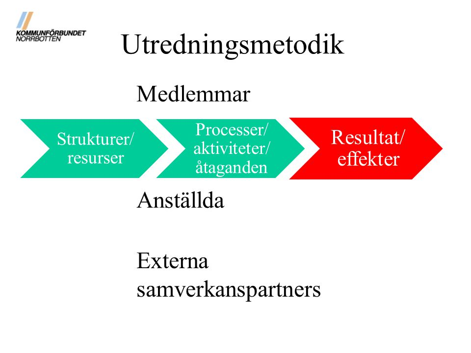 Processer/aktiviteter/åtaganden