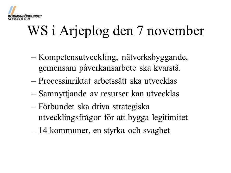 WS i Arjeplog den 7 november
