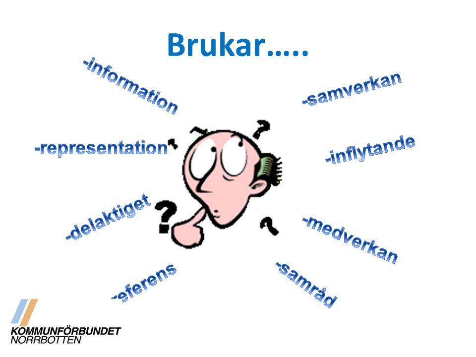 Brukar….. -information -samverkan -inflytande -representation