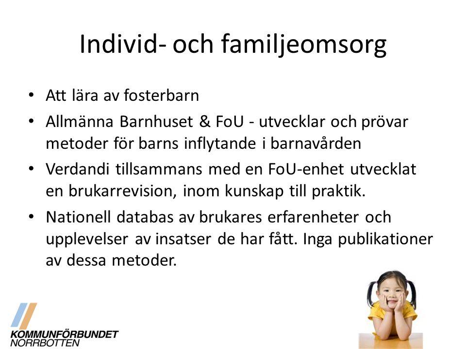 Individ- och familjeomsorg