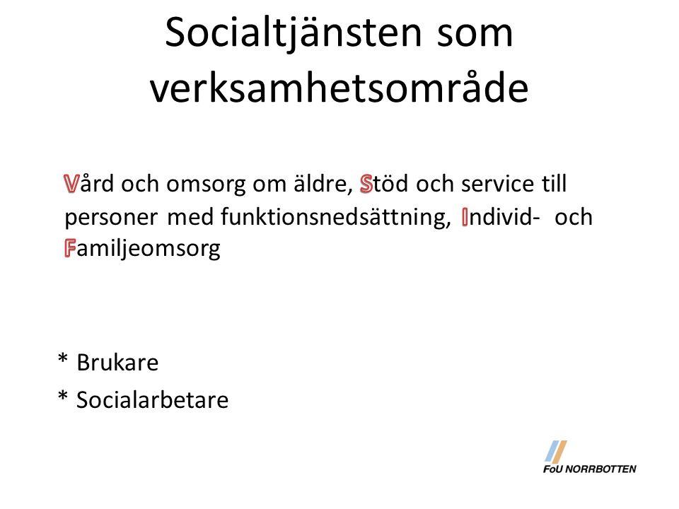 Socialtjänsten som verksamhetsområde