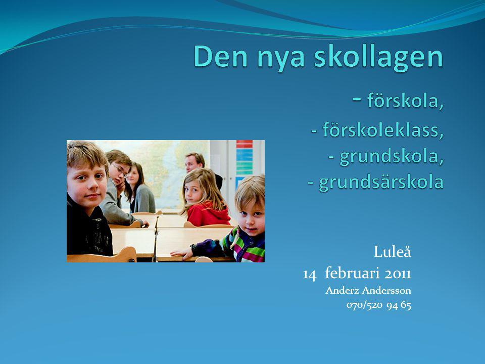 Luleå 14 februari 2011 Anderz Andersson 070/520 94 65
