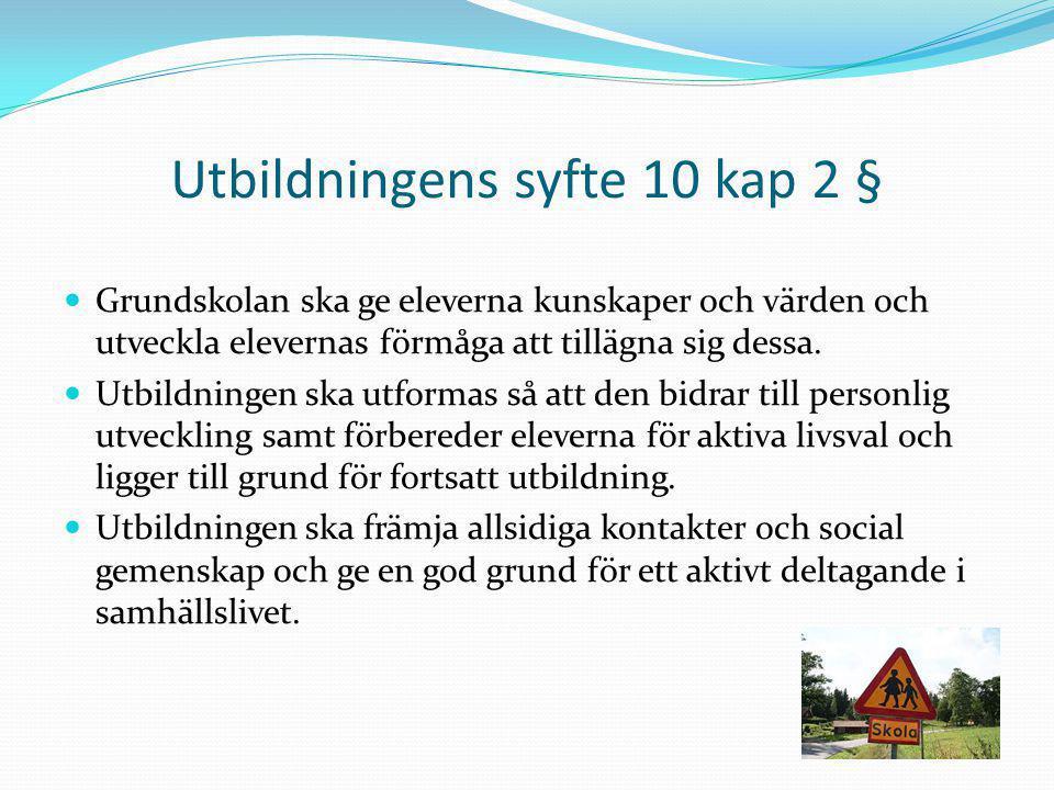 Utbildningens syfte 10 kap 2 §