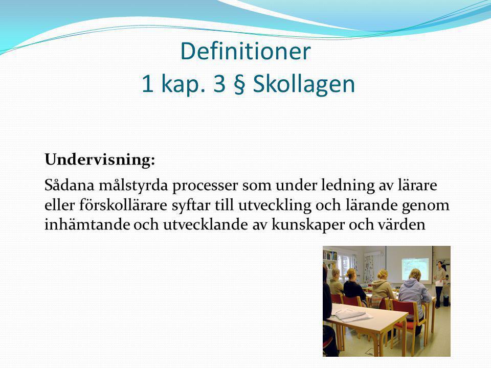 Definitioner 1 kap. 3 § Skollagen