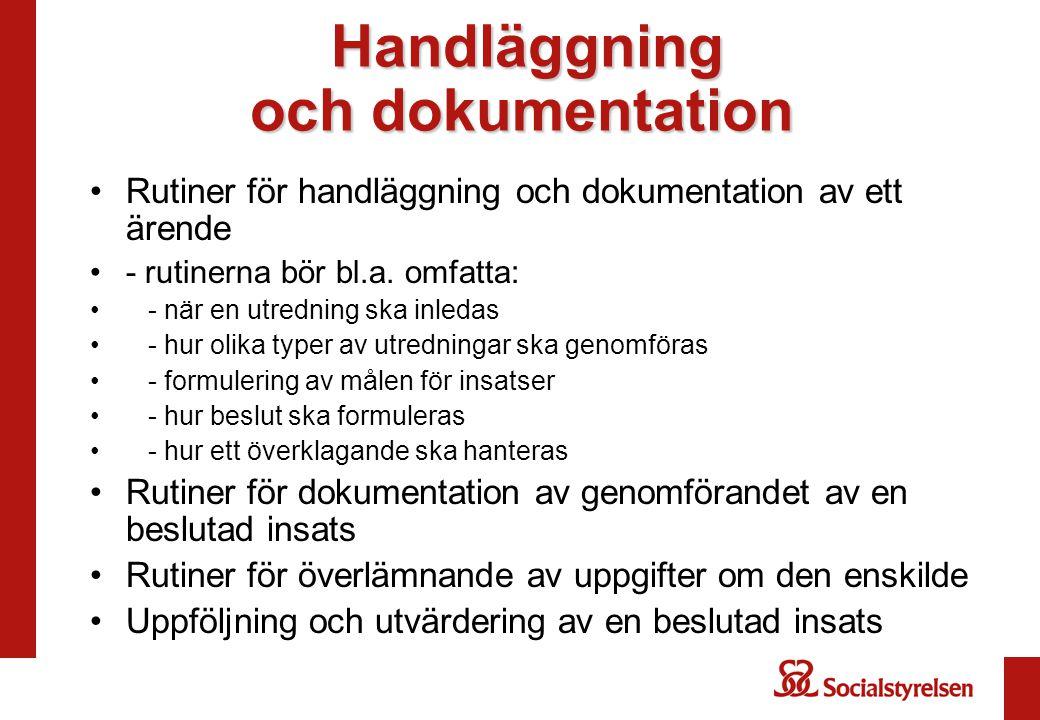 Handläggning och dokumentation