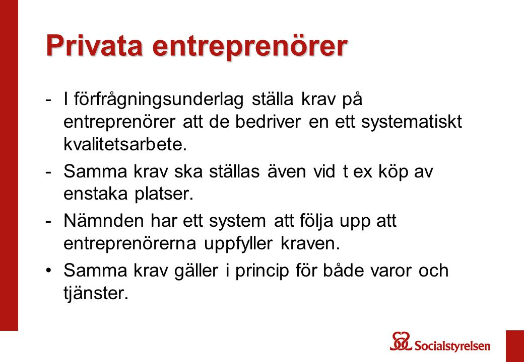 Privata entreprenörer