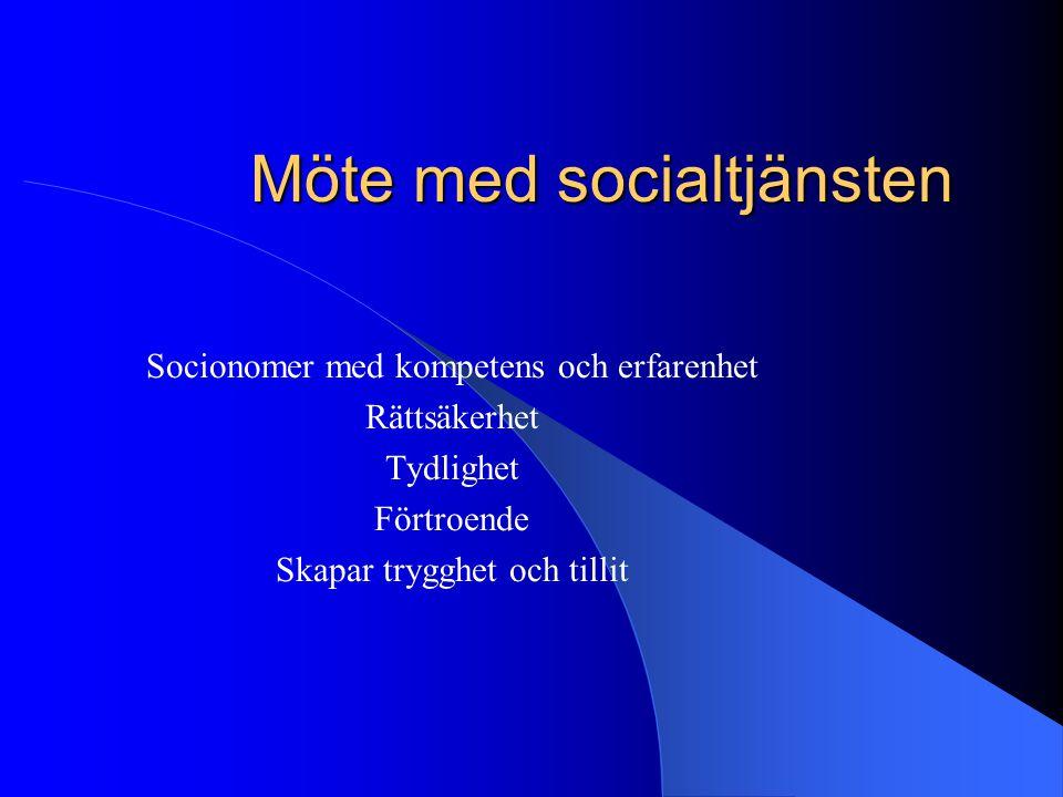 Möte med socialtjänsten
