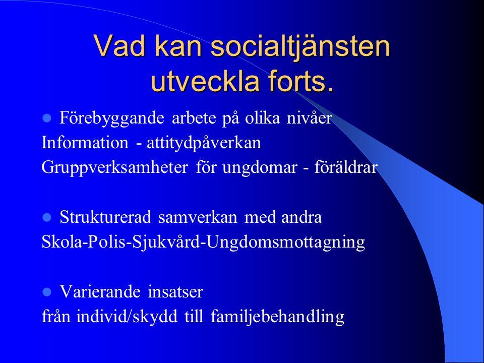 Vad kan socialtjänsten utveckla forts.