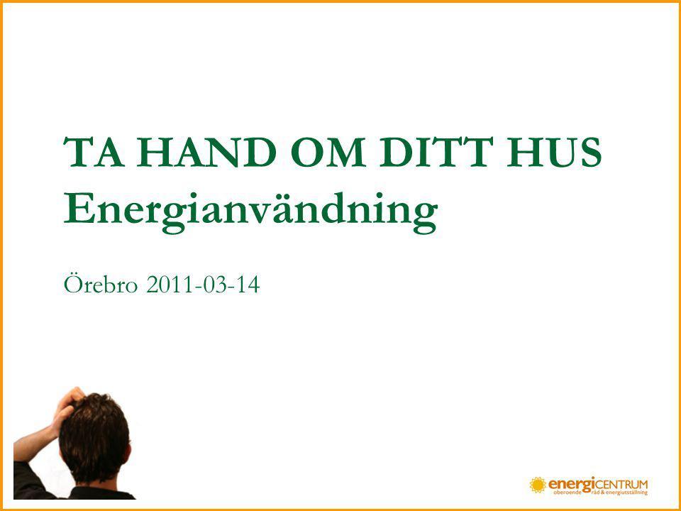 TA HAND OM DITT HUS Energianvändning Örebro 2011-03-14