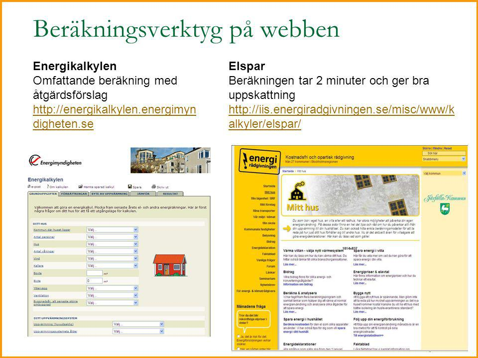 Beräkningsverktyg på webben