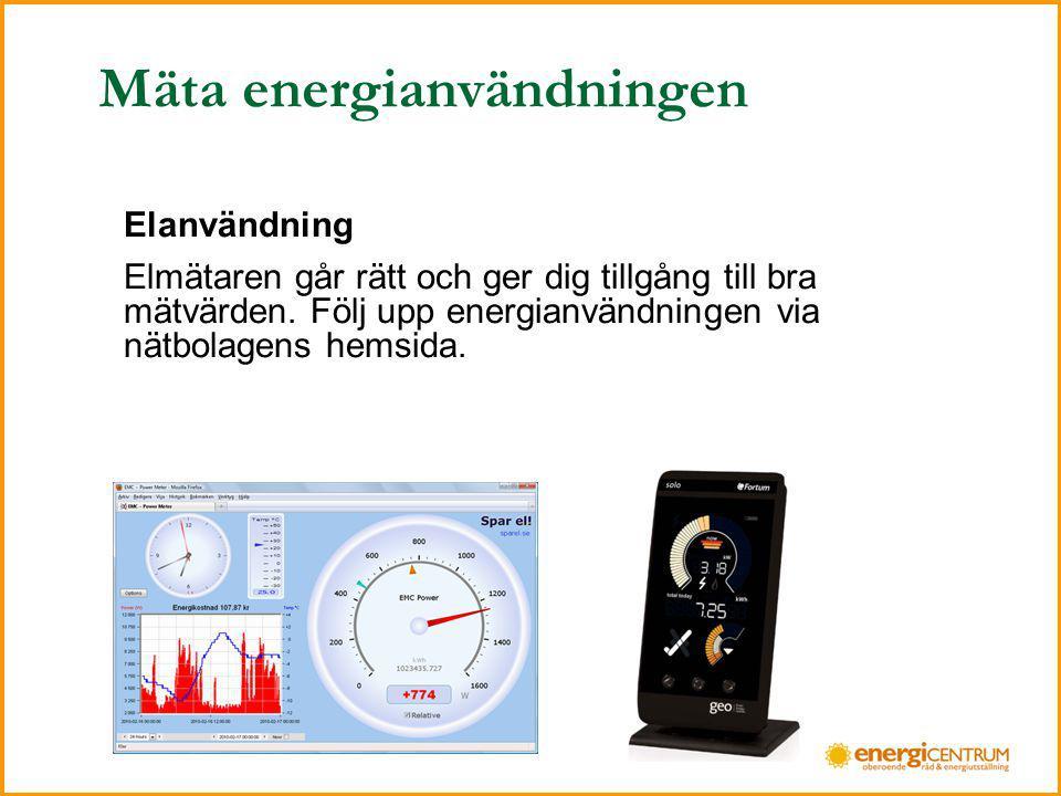 Mäta energianvändningen