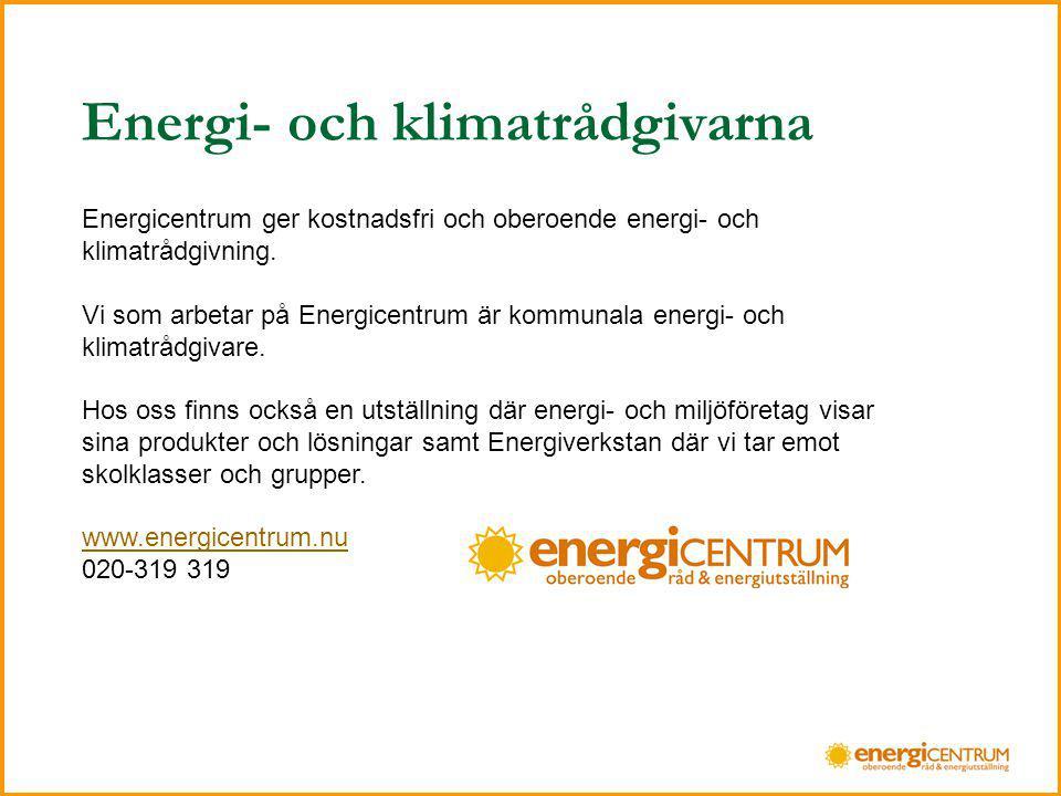 Energi- och klimatrådgivarna