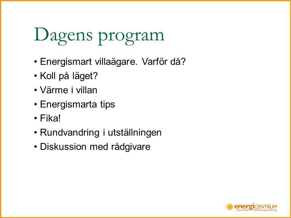 Dagens program Energismart villaägare. Varför då Koll på läget