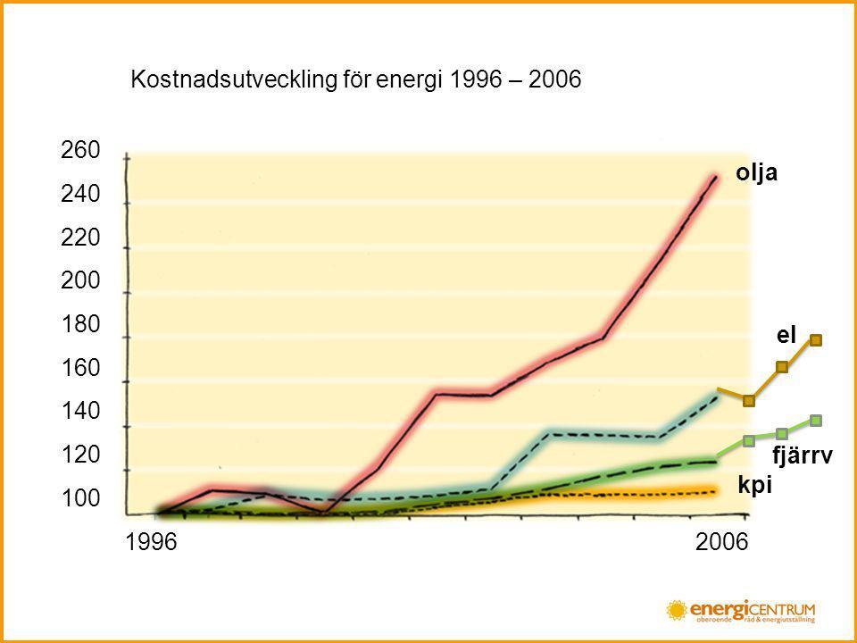 Kostnadsutveckling för energi 1996 – 2006