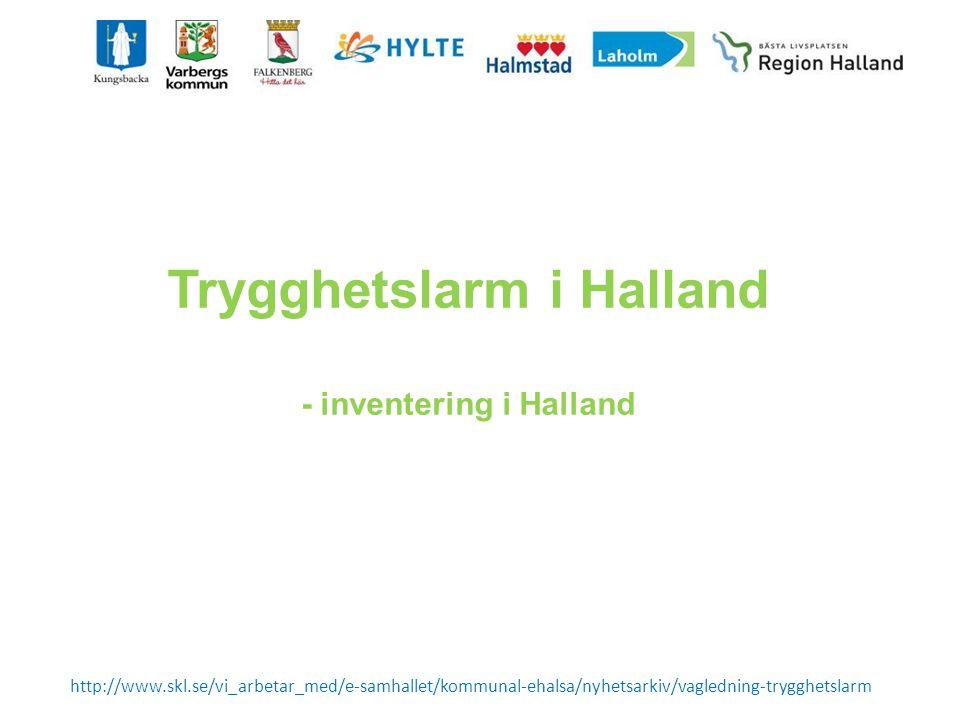 Trygghetslarm i Halland - inventering i Halland
