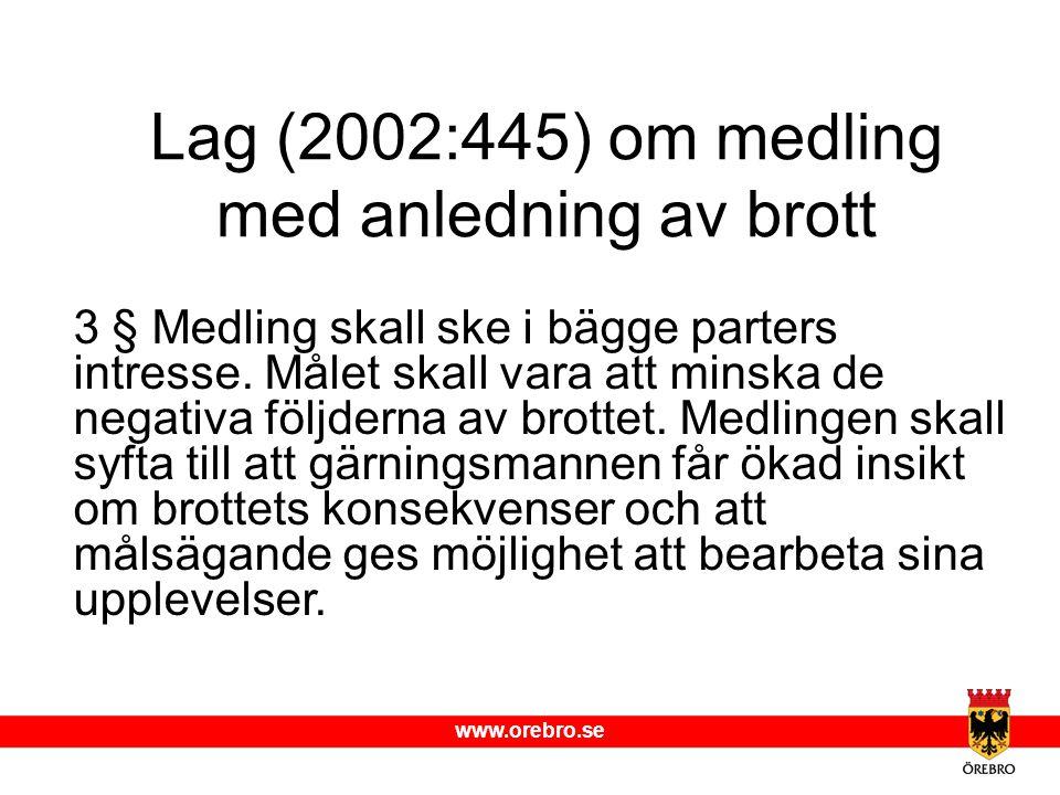 Lag (2002:445) om medling med anledning av brott