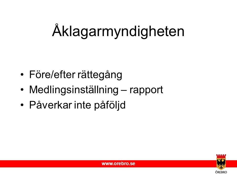 Åklagarmyndigheten Före/efter rättegång Medlingsinställning – rapport