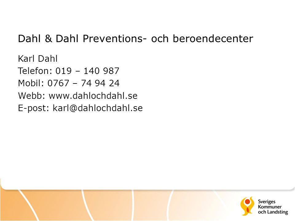 Dahl & Dahl Preventions- och beroendecenter